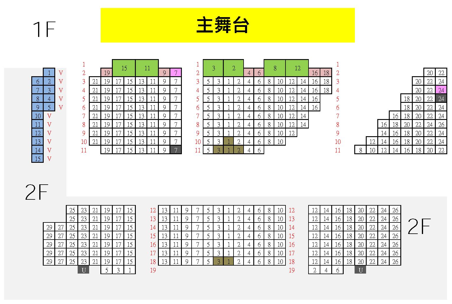 座位圖:表演廳-兩廳院售票系統