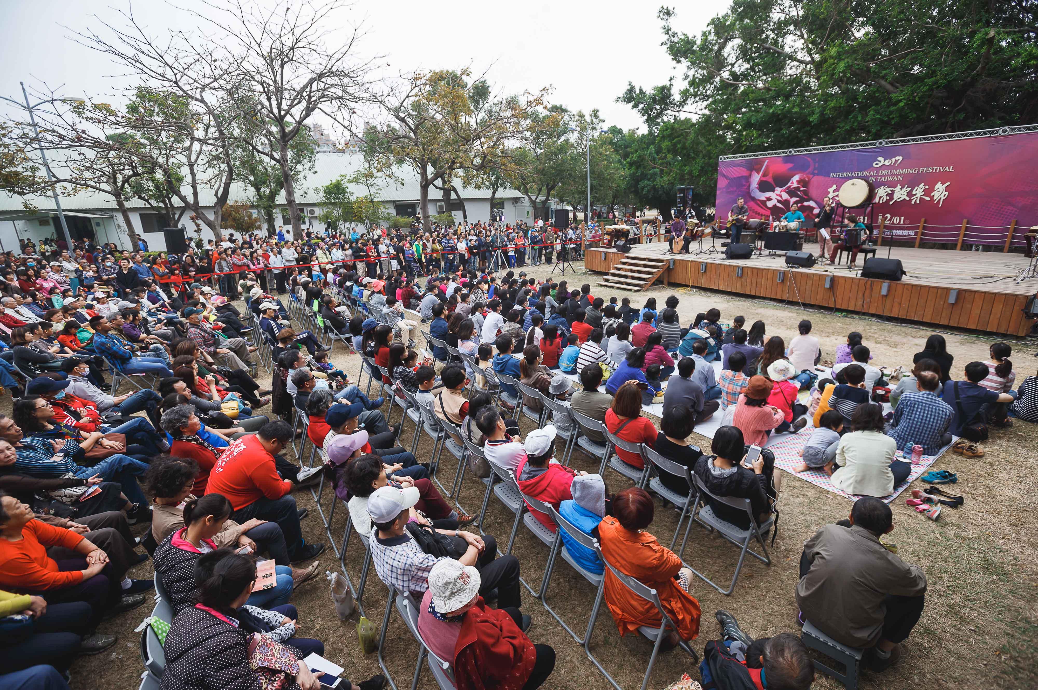 照片:臺灣國際鼓樂節群眾滿座看演出
