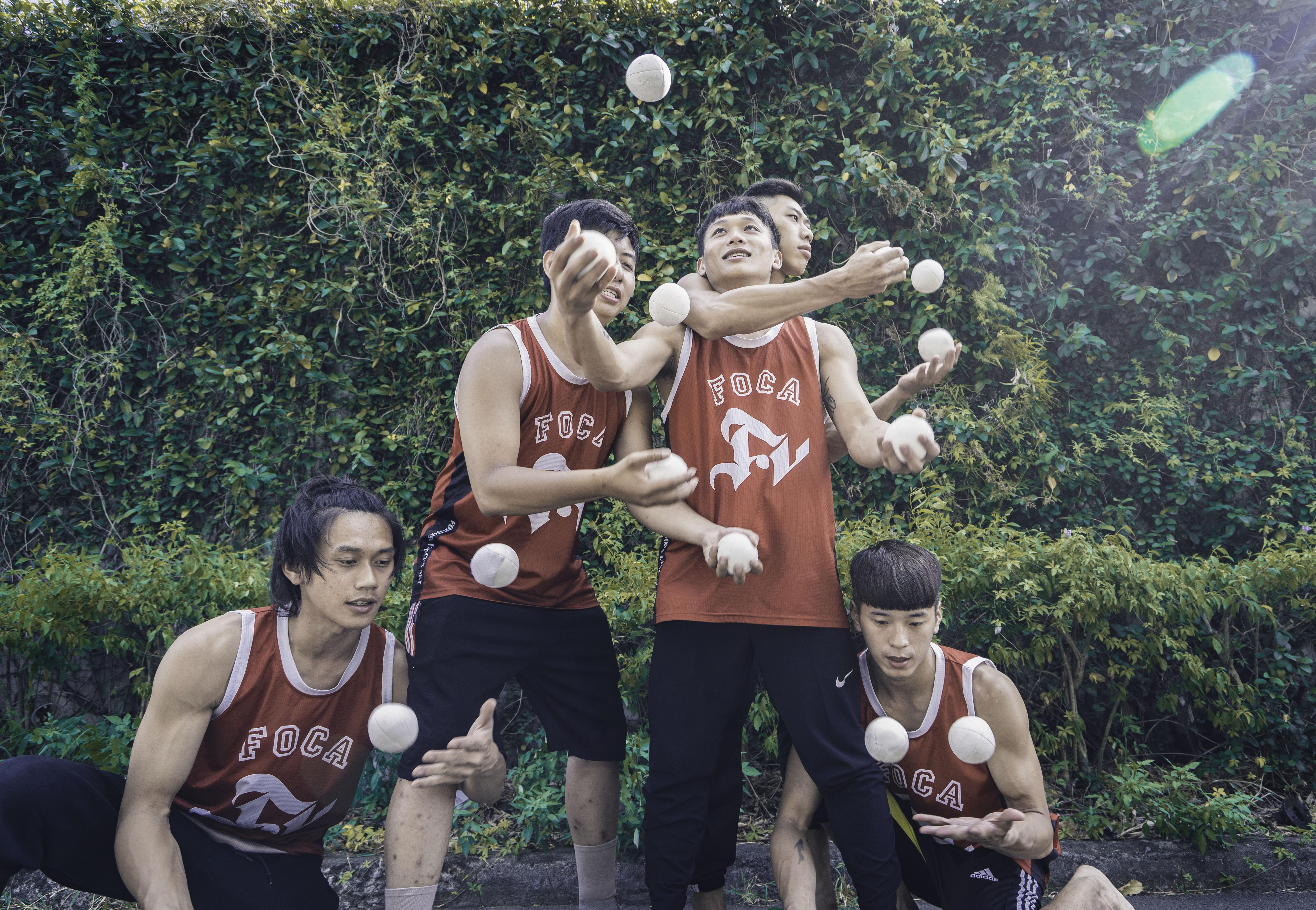 照片:雜耍球