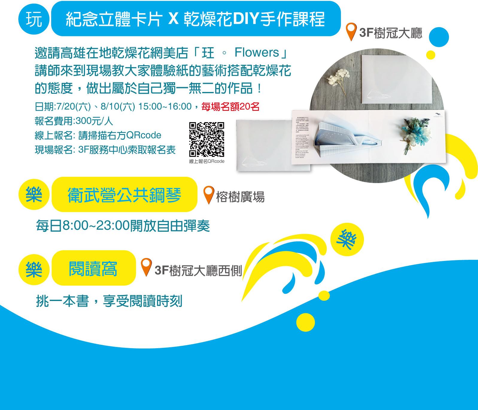圖:夏日樂活攻略「玩 · 樂衛武營」電子傳單