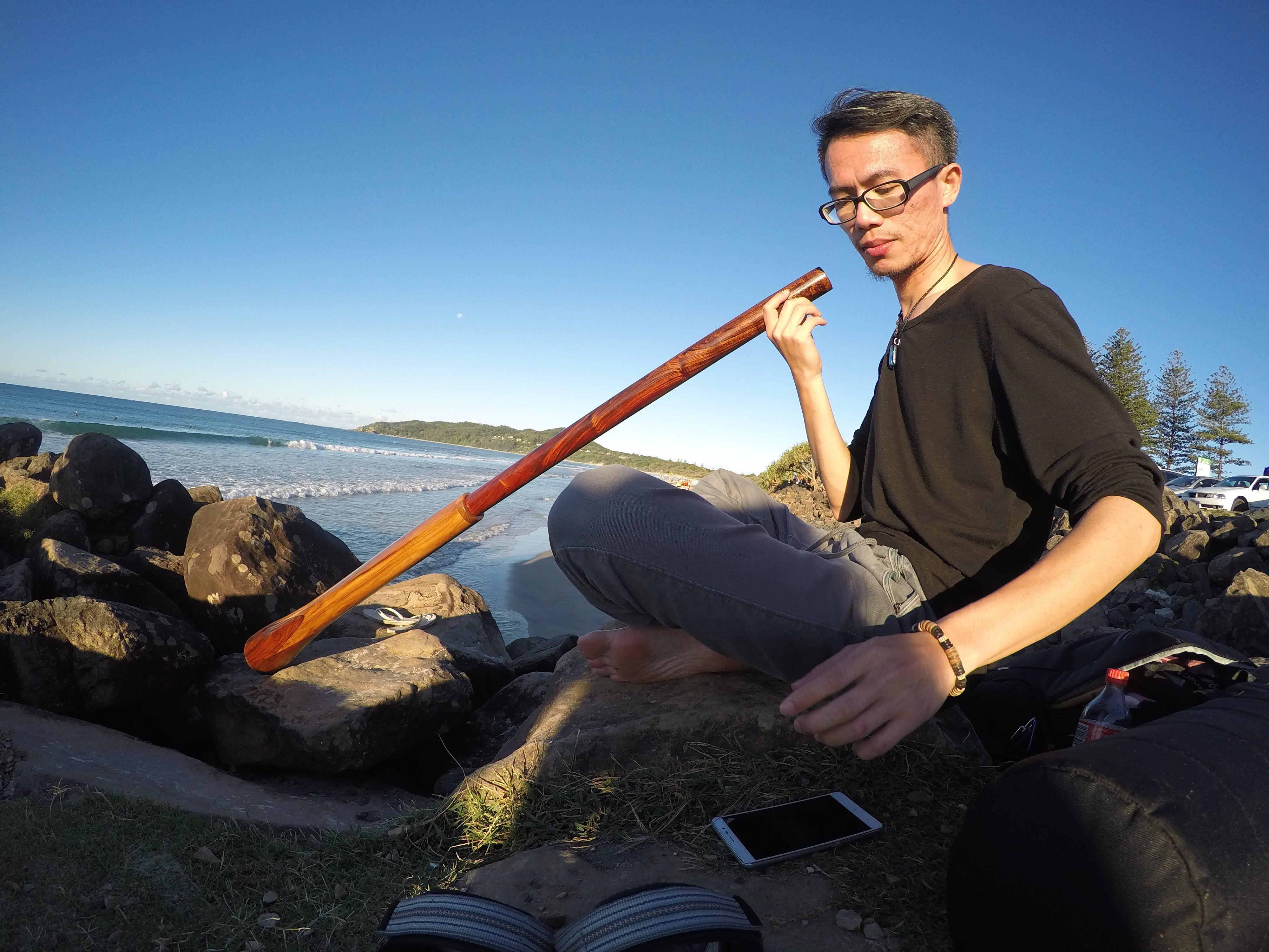 照片:林慶洲 ∣ 澳洲吹管Didgeridoo