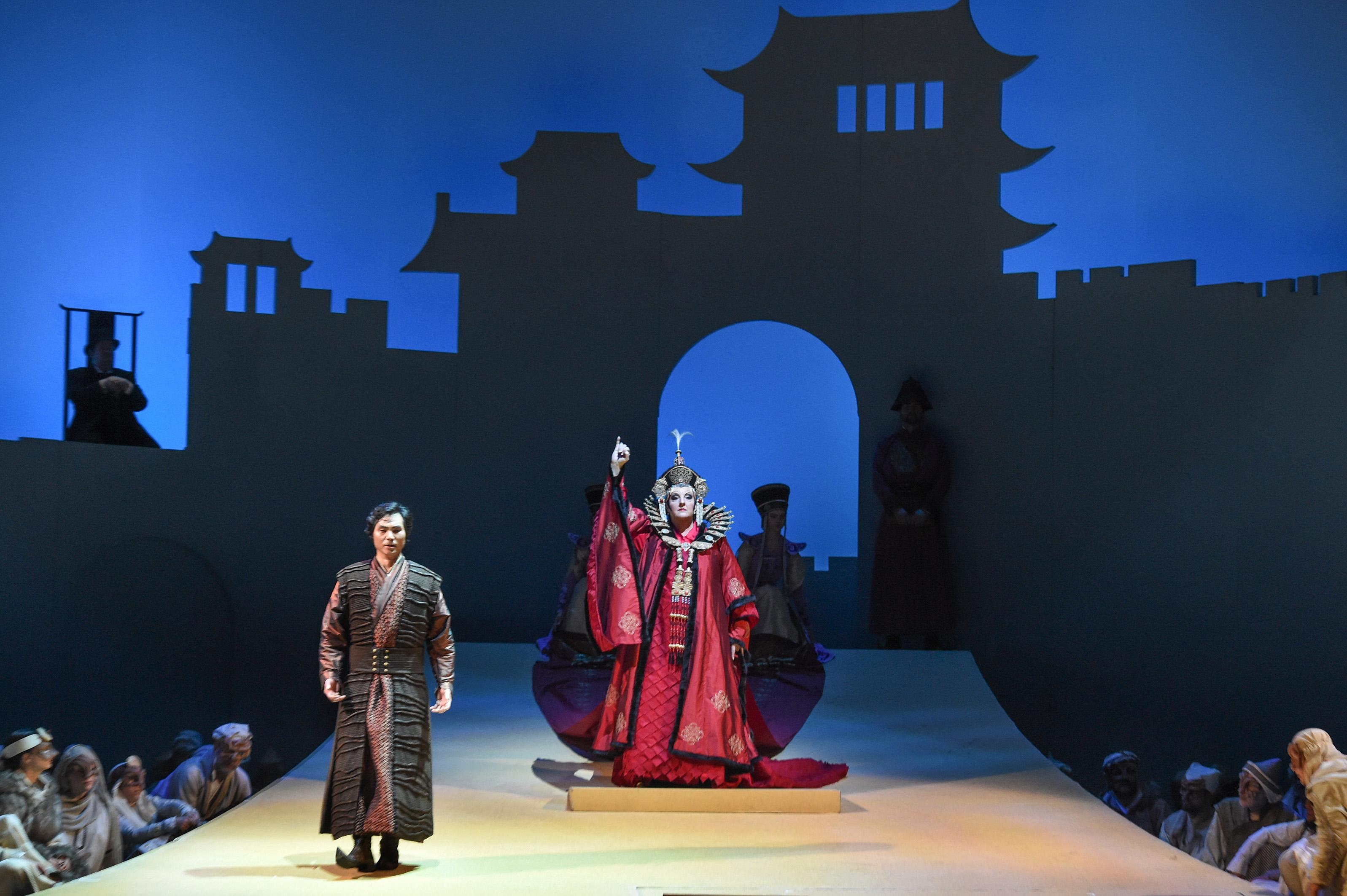 Stage Photo:Co-production Opera, Turandot.Photo by Hans Jörg Michel